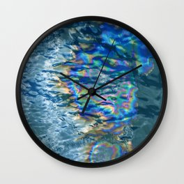 Abalone Reflections in Rippling Ocean Waters Wall Clock