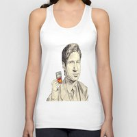 mulder Tank Tops featuring Mulder by withapencilinhand