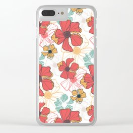 Poppy Bash 1 Clear iPhone Case