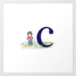 c is for chicks Art Print