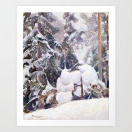 Pekka Halonen Winter landscape Art Print