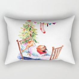 Simon and Chloe - Christmas Rectangular Pillow