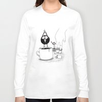 doughnut Long Sleeve T-shirts featuring Doughnut Agent by OneAngryBear
