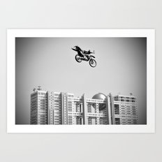 Kenny Over Odaiba, FMX Japan Art Print