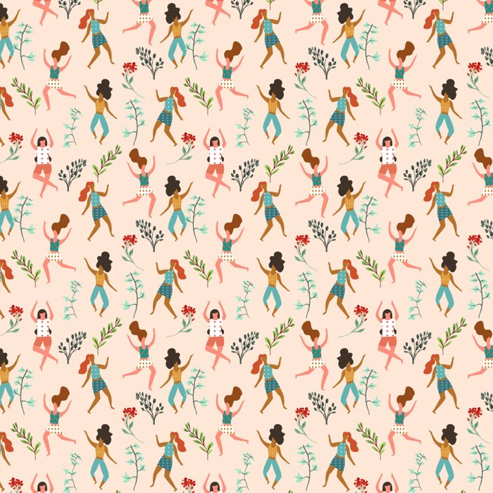 Central Park Workout #illustration #pattern #womensday Comforters