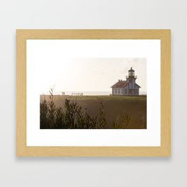 Point Cabrillo Light Whale Watchers Framed Art Print