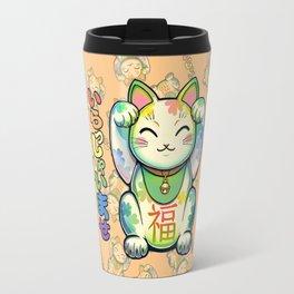 Maneki Neko Lucky Travel Mug