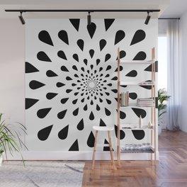 Trance Teardrops Wall Mural