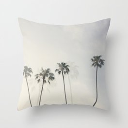 Double Exposure Palms 1 Throw Pillow