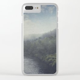 Wilderness in Mist Clear iPhone Case