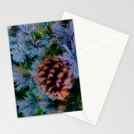 Vibrant Evergreen Christmas Stationery Cards
