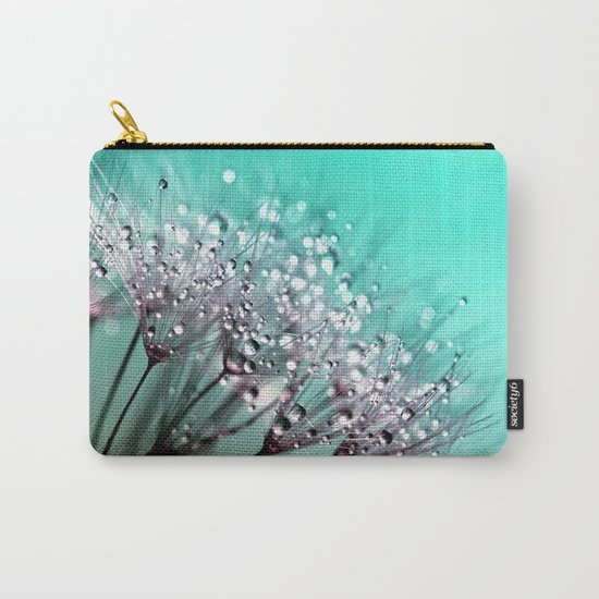 dandelion, mint, turquoise Carry-All Pouch