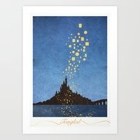 tangled Art Prints featuring Tangled by Mads Hindhede Svanegaard