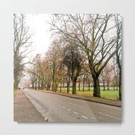British road in winter Metal Print