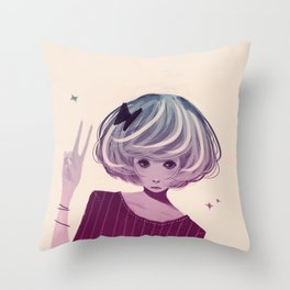 Not Smiling Doesn't Mean Your Not Happy Throw Pillow