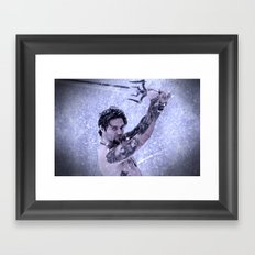 Bam Bam the Snow Warrior Framed Art Print