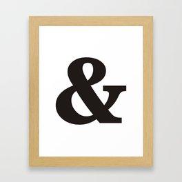 Black Ampersand sign Framed Art Print
