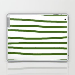 Simply Drawn Stripes in Jungle Green Laptop & iPad Skin