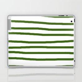 Simply Drawn Stripes in Jungle Green Laptop & iPad Skin