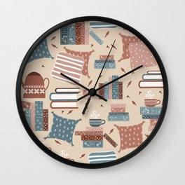 Hygge Reading Things Wall Clock