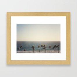 Golden Hour over Pacific Coast Highway Framed Art Print