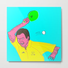 Table Tennis Mad Metal Print