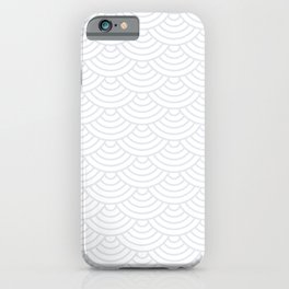 Light Grey Japanese wave pattern iPhone Case