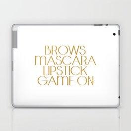 Fashion Quote Mascara Print Gift Women Typography quote Fashionista Fashion Print Wall art Home Art Laptop & iPad Skin