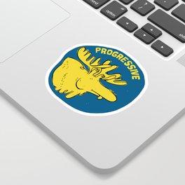 Progressive Moose Sticker