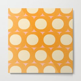 Dots and Triangles Yellow  #midcenturymodern Metal Print