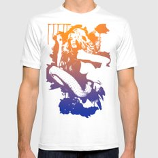 Catrin1 MEDIUM White Mens Fitted Tee