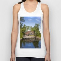 michigan Tank Tops featuring Michigan Cottage by davehare