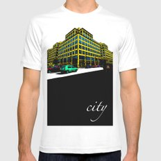 Berlin City White Mens Fitted Tee MEDIUM