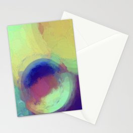 Colorful Abstract Painting Stationery Cards