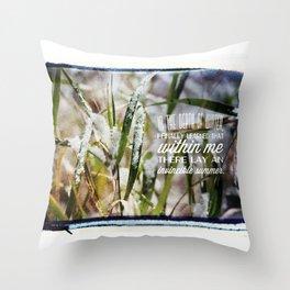 Invincible Summer. Throw Pillow