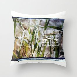 Invincible Summer. Throw Pillow