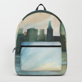 2019 Watercolor New York City Series 003 Watercolor Painting Backpack