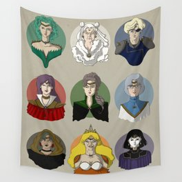 FUTURE SAILOR MOON QUEENS Wall Tapestry