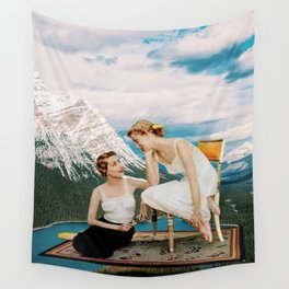 Girl Talk Wall Tapestry