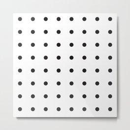 Black dots on white Metal Print