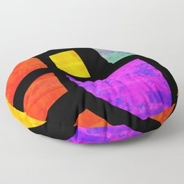 All the Right Angles, Abstract Art Floor Pillow