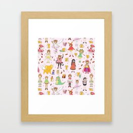 Cutest Cardcaptor! Cardcaptor Sakura Doodle Framed Art Print