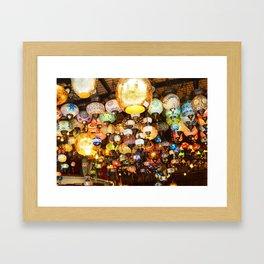 Turkish Lamps - Istanbul, Turkey Framed Art Print