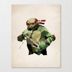 Polygon Heroes - Raphael Canvas Print