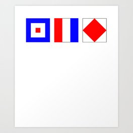 WTF What The Fuck Nautical Signal Flags Art Print
