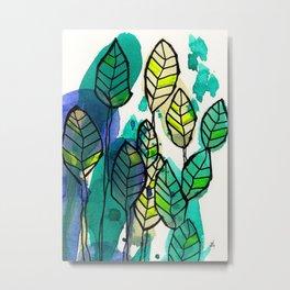 Banana Leaves 1 Metal Print