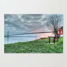Sunset at the Humber Bridge Canvas Print