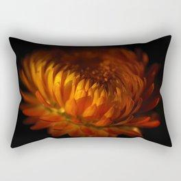 Gold and black Rectangular Pillow