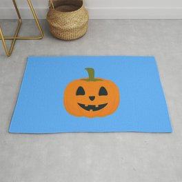 Classic Halloween pumpkin Rug