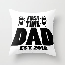 First Time Dad To Be Fathers Day Gift - Promoted Daddy Throw Pillow
